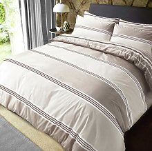 Pieridae Natural Banded Striped Bedding Set -