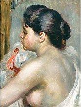 Pierre Auguste Renoir Dark Haired Woman Art Print