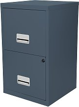 Pierre Henry 2 Drawer Filing Cabinet - Dark Grey
