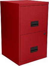 Pierre Henry 2 Drawer Metal Filing Cabinet - Brick
