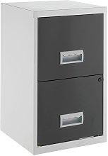 Pierre Henry 2 Drawer Metal Filing Cabinet -