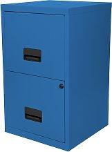 Pierre Henry 2 Drawer Metal Filing Cabinet - Sky