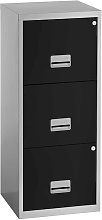Pierre Henry 3 Drawer Maxi Filing Cabinet - Silver