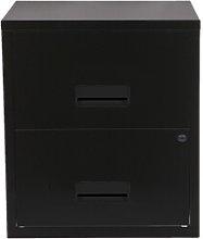 Pierre Henry A4 2 Drawer Filing Cabinet - Black