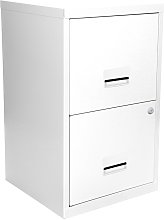 Pierre Henry A4 2 Drawer Filing Cabinet - White