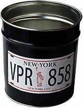 Pierre Henry DRA4007163 Wastebasket, Metal, Black,