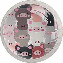 Pig Animals Crystal Drawer Cabinet Knobs Knobs for
