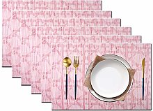pigchcy Beehive Placemats Set of 6, Plastic