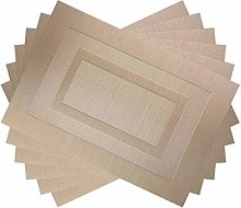 pigchcy Champagne Double Frame Vinyl Placemats
