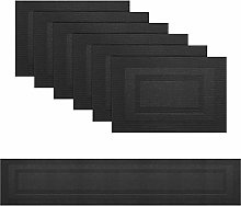 pigchcy Double Frame Black Elegant Placemats and