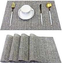 pigchcy Elegant Placemats Set of 4 Blended Woven