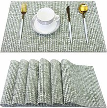 pigchcy Elegant Placemats Set of 6 Blended Woven