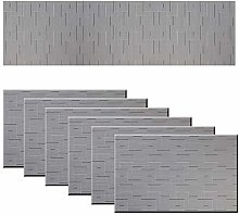 pigchcy Grey Elegant Placemats and Table Runner