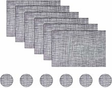 pigchcy Modern Placemats Set of 6 with Coaster