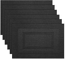 pigchcy Placemats Washable Woven Vinyl Placemats
