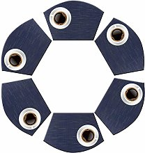 pigchcy Round Table Wedge Placemat Set of 6