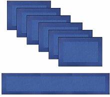 pigchcy Single Frame Navy Blue Elegant Placemats