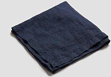 Piglet Navy Linen Napkin | 100% Natural