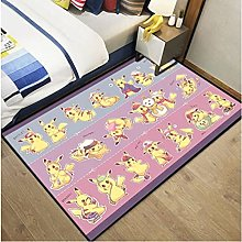 Pikachu Anime Rectangular Cartoon Carpet Living