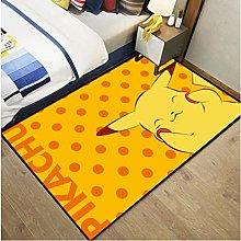 Pikachu Carpet Anime Cartoon Living Room Study