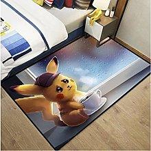 Pikachu Cartoon Home Animation Carpet Rectangular