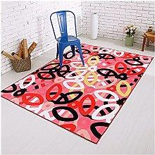 Pile Living Room Carpets Anti Slip Floor Mat Large