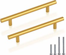 PiLin 10 Pack T Bar Cabinet Pulls Hole Spacing