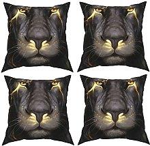 Pillow Cool Lion Printing 4-Piece Set Of Pillows