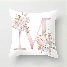 Pillow Letters Pink Floral Decorative Cushions