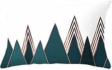 Pillowcase Lattice Striped Geometric Cushion Cover