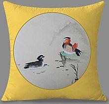 Pillowcase,Throw Pillow Cases Chinese Ink Mandarin