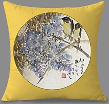 Pillowcase,Throw Pillow Cases Chinese Ink Purple
