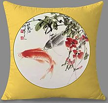 Pillowcase,Throw Pillow Cases Chinese Ink Red