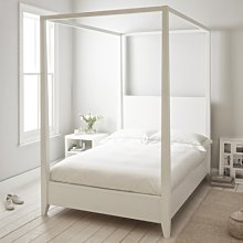 Pimlico Bed, White, Double