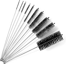 Pin Cleaning [10 pieces], cleaning brush, straw