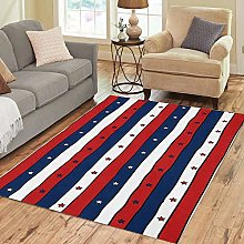 Pinbeam Area Rug Red White and Blue Striped