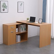 Pine Adjustable Computer Desk PC Laptop Table Home
