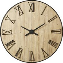 Pine Clock with 3D Metal Numerals D150