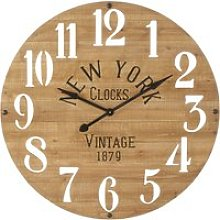 Pine Clock with Cut-Out Numerals D98