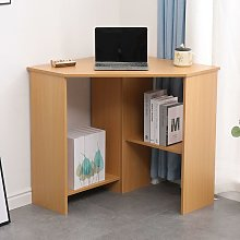 Pine Computer Desk PC Laptop Table Corner Home