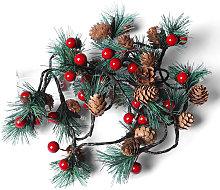Pine Cones Jingle Bell LEDs Christmas String