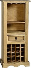 Pine Wine Rack Solid Mexican Pine Shelving Storage