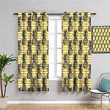 Pineapple Decor Collection Kitchen curtain