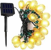 Pineapple Light String, 6M 20LED Solar Metal