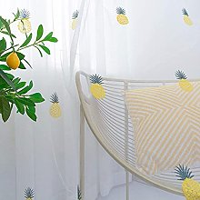 Pineapple Pattern Voile Curtain Embroidery Sheer