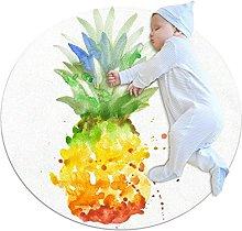 Pineapple, Round Rug Throw Area Rug Soft Fashion
