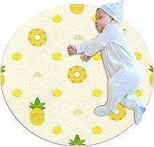 Pineapple Slices, Round Area Rug Pattern Round