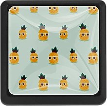 Pineapple with Glasses Square Cabinet Knobs
