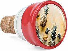 Pineapple Yellow Tropical Wine Cork Wine Bottle