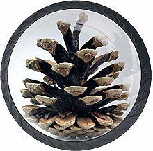 Pinecone Drawer Pull Handle with Screws Glass